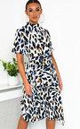 Petra Printed Frill Chiffon Dress Thumbnail