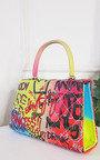 Phoebe Graffiti Print Handbag Thumbnail