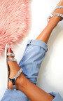 Pia Metallic Diamante Strappy Sandals Thumbnail