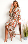 Pia Snake Print Maxi Dress Thumbnail