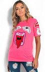Piper Slogan Graphic Long-Lined T-Shirt Thumbnail