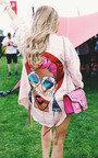 Pixi Graphic Denim Shirt Dress Thumbnail