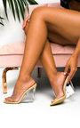Pollie Perspex Wedge Mule Heels Thumbnail