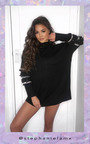 Poppie Faux Fur Embellished Oversized Jumper Thumbnail