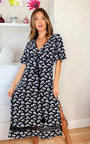 Poppie Printed Midi Dress Thumbnail