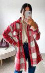 Poppy Checked Longline Shirt Jacket Thumbnail