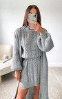 Portia Knitted Mini Dress & Cardigan Co-Ord Thumbnail