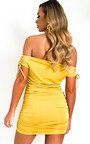 Posie Off Shoulder Ruched Bodycon Dress Thumbnail