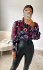 Posie Sheer Floral Top Thumbnail