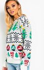 Dasher Classic Printed Christmas Jumper Thumbnail