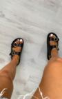 Quinn Croc Print Buckle Sandals Thumbnail