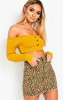 Quinn Off Shoulder Knitted Crop Top Thumbnail