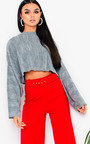 Rach Cropped Stripe Knit Jumper Thumbnail