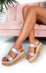 Rach Diamante Embellished Flatform Sandals Thumbnail