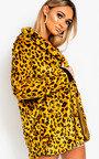 Rachel Leopard Print Faux Fur Coat Thumbnail
