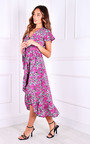 Rae Wrap Printed Midi Dress Thumbnail
