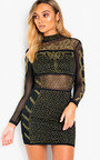 Raina Embellished Bodycon Dress Thumbnail