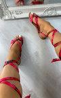 Raine Satin Ribbon Sandals Thumbnail