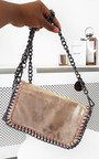 Randy Chain Detail Metallic Handbag Thumbnail