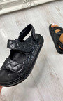 Raven Quilted Velcro Chunky Sandals Thumbnail
