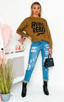Rebel Slogan Knitted Jumper Thumbnail