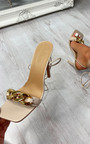 Reeva Chain Detail Lace Up Heels  Thumbnail