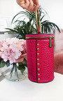 Ren Cylinder Croc Print Clutch Bag Thumbnail