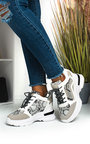 Rennie Snake Print Chunky Trainers Thumbnail