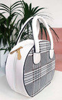 Rhanee Check Circle Handbag Thumbnail