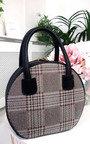 Rhanee Check Circle Handbag Thumbnail
