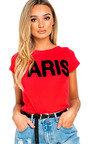 Rhiannon Slogan Stretch T-shirt Thumbnail