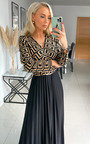 Rhona Pleated Maxi Dress with Print Detail Thumbnail