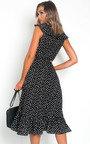 Rhona Polka Dot Wrap Midi Dress Thumbnail