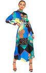 Rielle Belted Print Maxi Dress Thumbnail