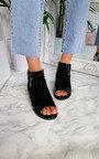 Riha Studded Peep Toe Block Heel Sandal Thumbnail