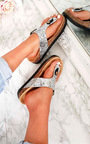 Rissa Sequin Cork T-Bar Sandals  Thumbnail