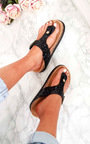 Rissa Sequin Cork T-Bar Sandals  Thumbnail
