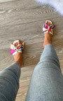 Rita Printed Bow Slider Thumbnail