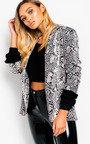 Rita Slim Fit Snake Blazer Jacket  Thumbnail
