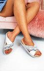 Rix Studded Snake Print Flatform Sandals Thumbnail