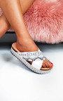 Tix  Studded Snake Print Flatform Sandals Thumbnail