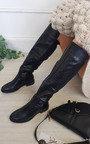 Rochelle Croc Print Knee High Boots Thumbnail