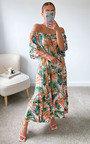 Rocki Off Shoulder Floral Maxi Dress in Plus Size Thumbnail