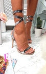 Rosa Wrap Strap Diamante Patent Heels   Thumbnail