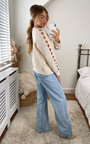Rosalea Knitted Jumper with Cut Out Detail Thumbnail