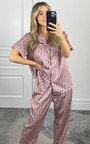 Rose Printed Pyjama Co-ord  Thumbnail