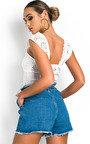 Roselle Tie Waist Denim Shorts Thumbnail