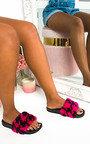 Rosena Faux Fur Sliders Thumbnail