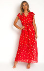 Rosi Polka Dot Maxi Dress Thumbnail