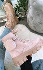 Rosie Buckle Pouch Faux Suede Boots Thumbnail